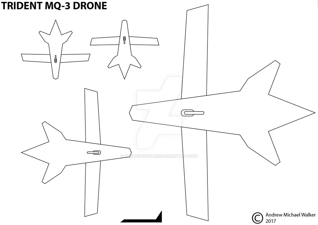 TRIDENT MQ-3 DRONE DESIGN 2017 by CreativeDyslexic