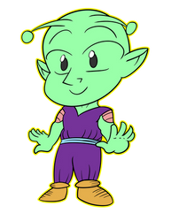 Chibi Piccolo by TheObscureArtistguy