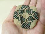 Celtic Heart Biscornu