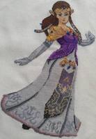Princess Zelda Cross Stitch by Sirithre