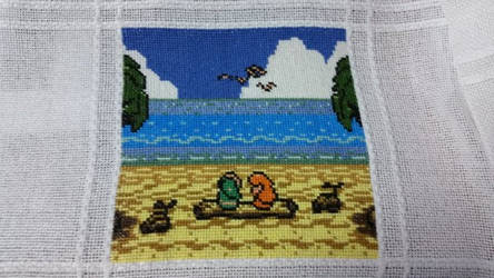 Link's Awakening DX Cross Stitch by Sirithre