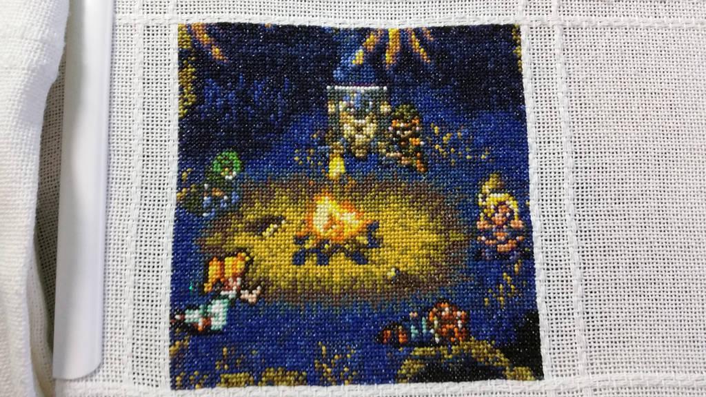 Chrono Trigger Cross Stitch by Sirithre