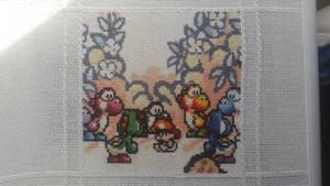 Yoshi's Island Cross Stitch by Sirithre