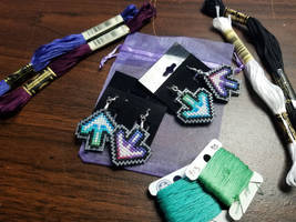 DDR Earrings by Sirithre