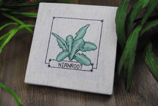Skyrim Cross Stitch - Nirnroot