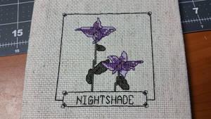 Skyrim Cross Stitch - Nightshade by Sirithre