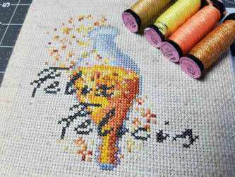 Harry Potter Felix Felicis Cross Stitch by Sirithre
