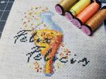 Harry Potter Felix Felicis Cross Stitch by Sirithre