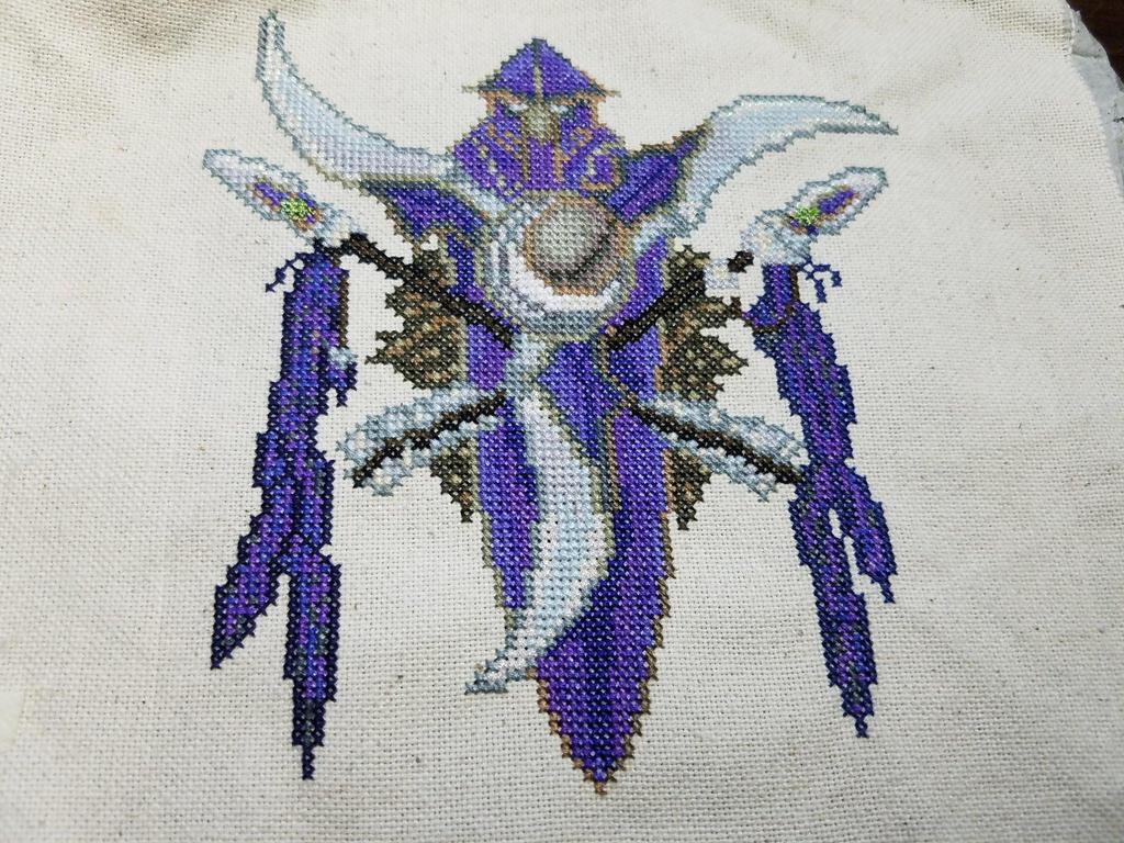 Night Elf Cross Stitch by Sirithre