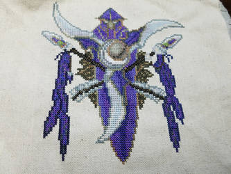 Night Elf Cross Stitch by Sirithre
