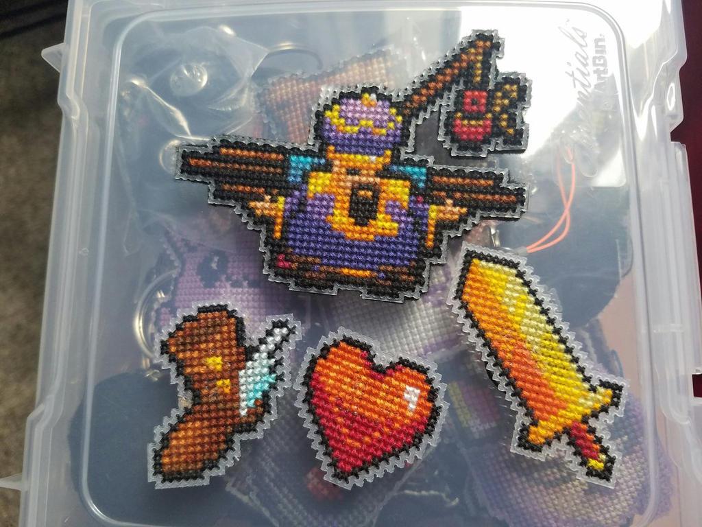 Necrodancer Freddy Mercury Cross Stitch by Sirithre