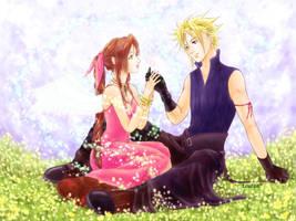 Cloud and Aerith's Blue Sky by tsutsa