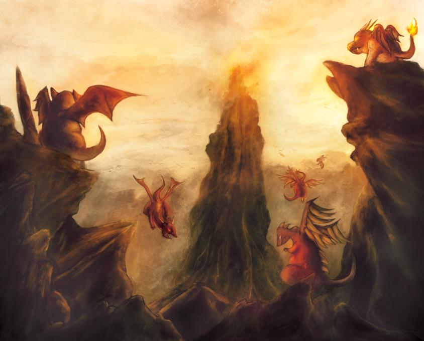 Dragon Temple by djambronx