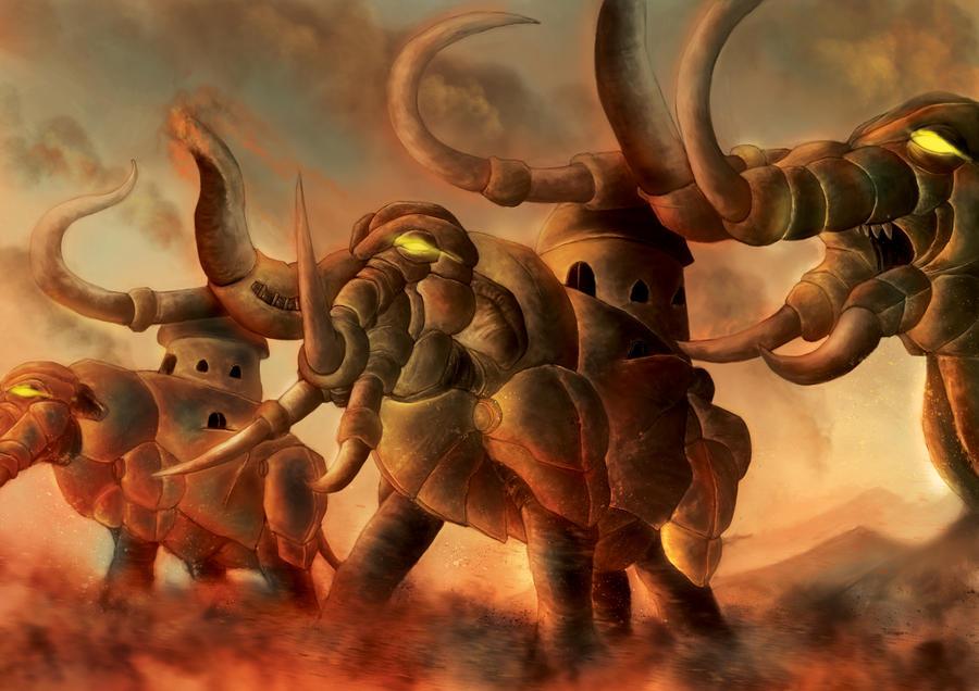 War Elephant by djambronx