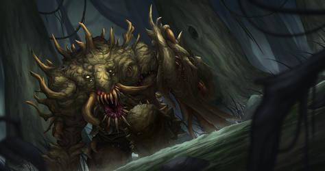 Swamp Beast by djambronx