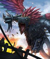 Kamikaze Dragon by djambronx