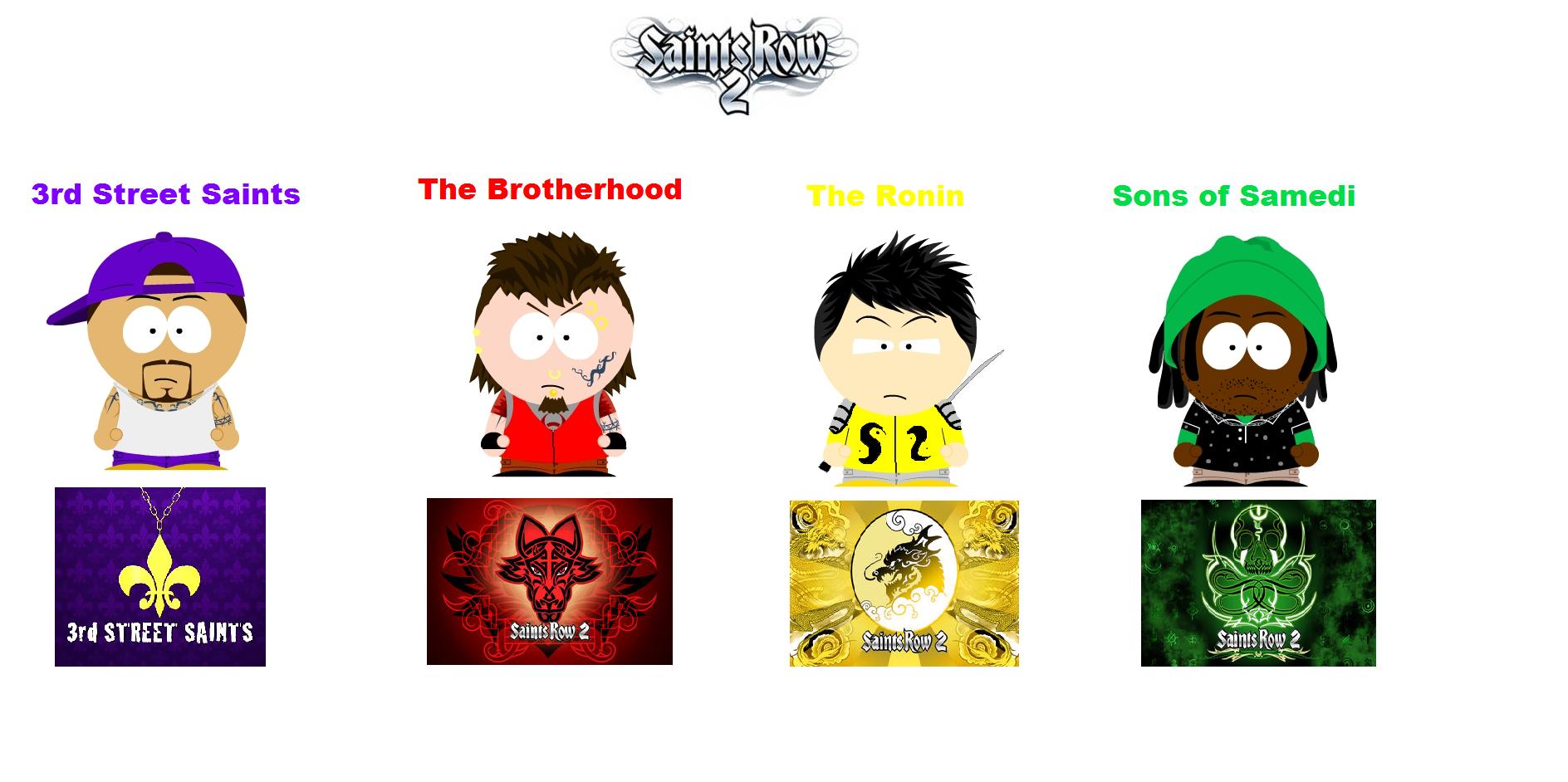 South Park: Saints Row 2 Gangs by deonpalmer45 on DeviantArt
