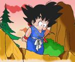 Kid Goku on the woods