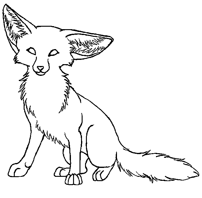 Anime Fennec Fox Coloring Pages