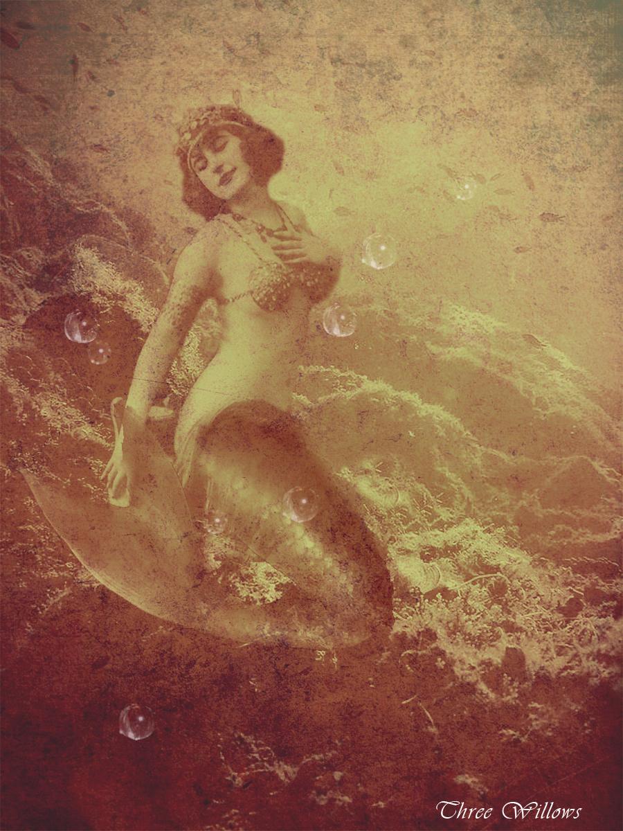 Vintage Mermaid Background   www.imgkid.com - The Image ...