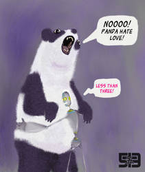 I heart panda by stemacdonald
