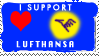 I like Lufthansa stamp by noname4you