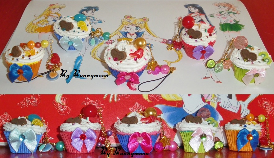 Sailor Moon - decoden mini cupcake charms by Bunnymoon-Cosplay