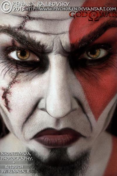 God of War Kratos by psychoren