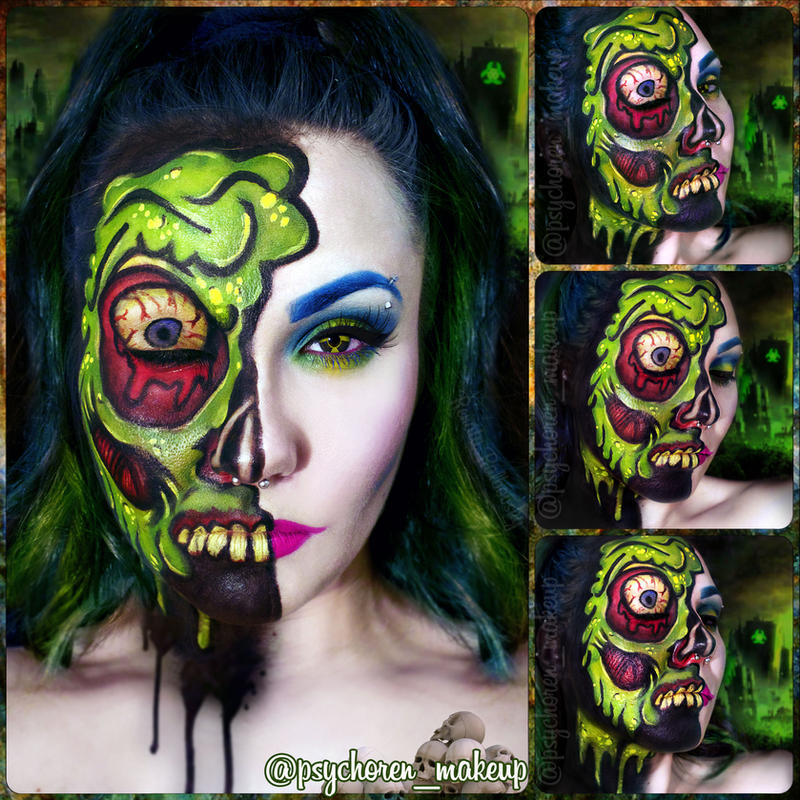 Toxic Cyberpunk Zombie by psychoren