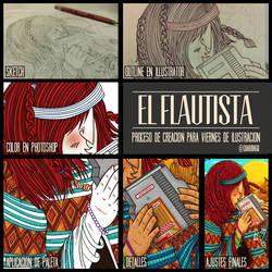 Proceso Flautista by CALLit-ringo