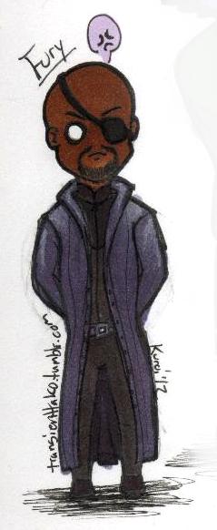 [Fanart] Chibi!Vengers - Ex. Spy Nick Fury_Color by ...