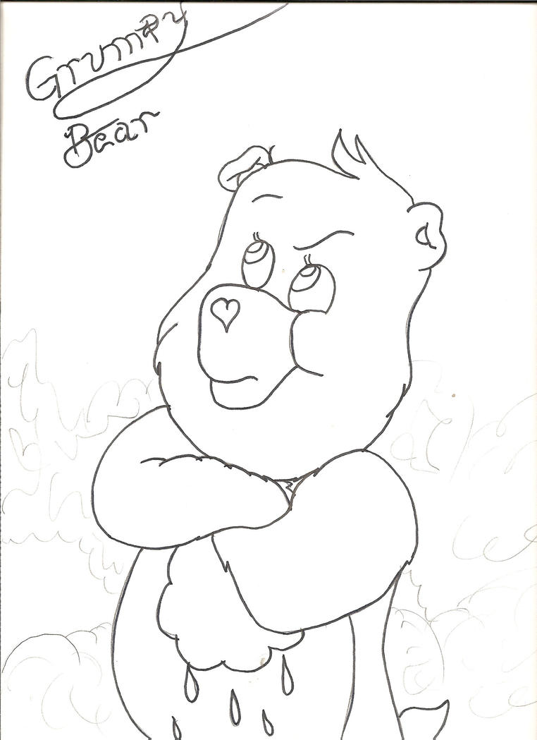 grumpy care bears coloring pages - photo#27