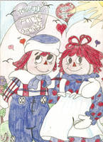 Raggedy Ann and Andy with background by OldSchoolDreamer
