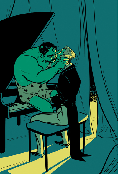 Strongman and Pianist by PollyGuo on DeviantArt