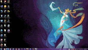 Serenity on the Moon Desktop
