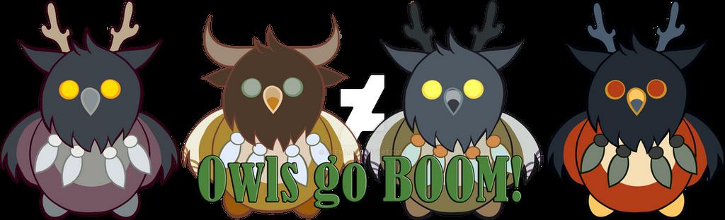 Owls Go BOOM! by lilena