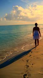 walking along the beach by JayBee5