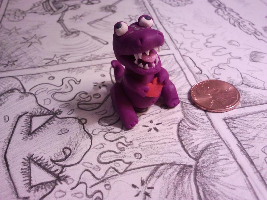 my tiny t rex love by Saramuss