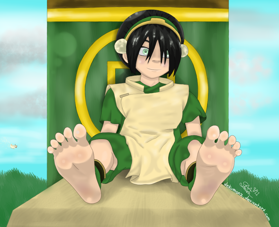 Toph and Her Delicious Feet by Dekumonz