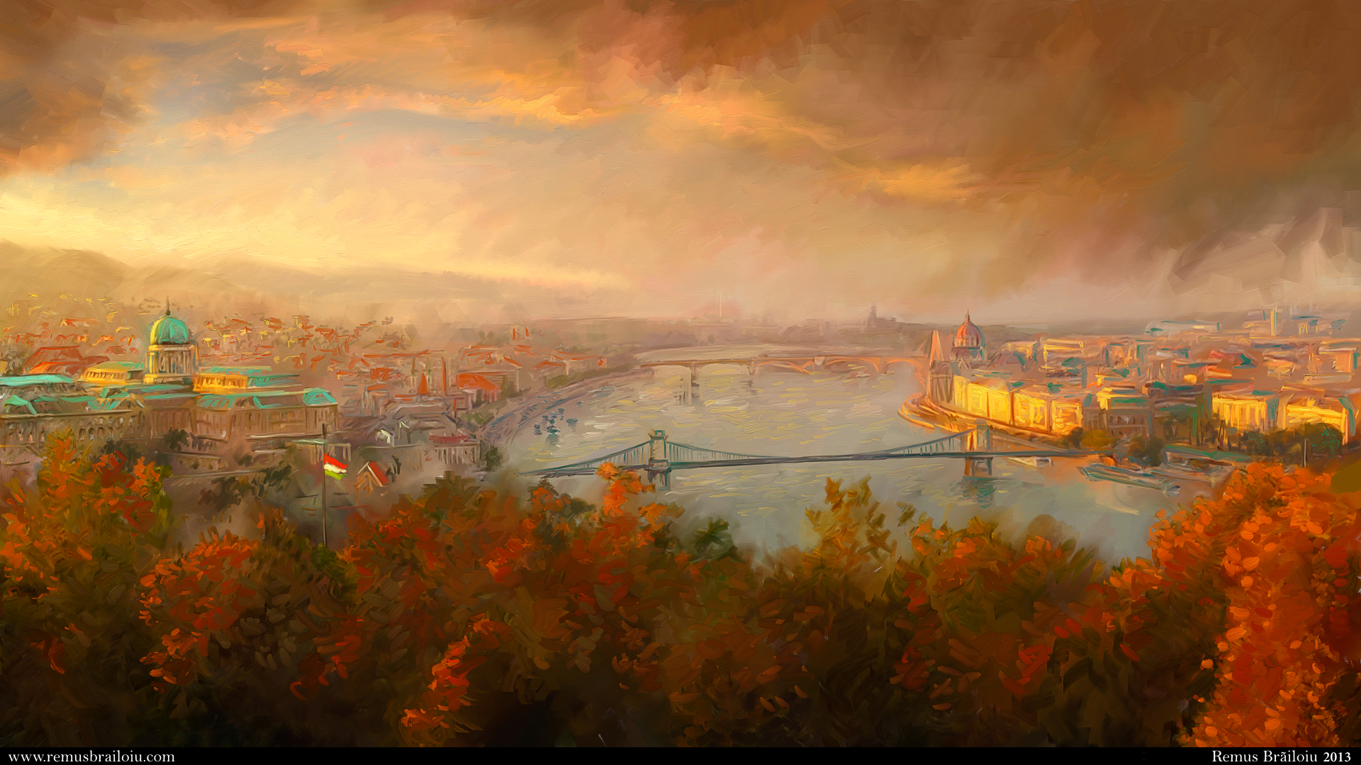 View of Budapest by Tesparg