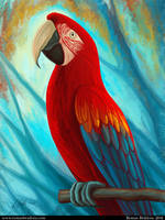 Technicolor Macaw by Tesparg