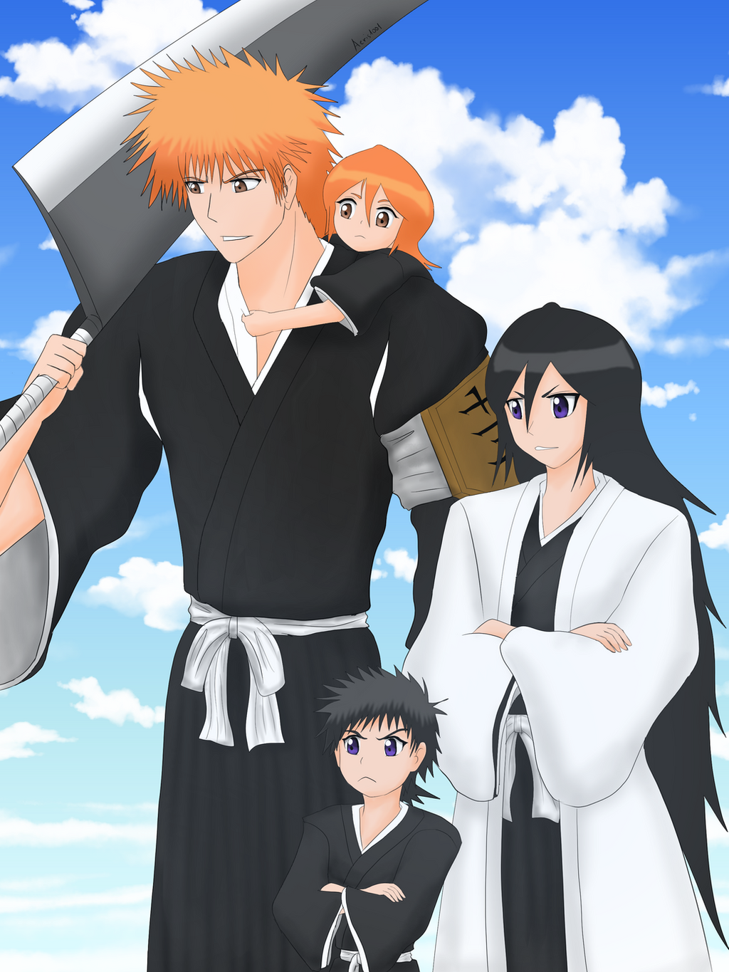 bleach and child Ichigo kurosaki (黒崎 一護 bleach media chapters he could see them so clearly, as a child, he could not tell the living from the dead.