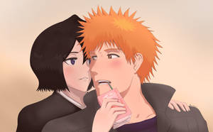Ichigo,Rukia and the Strawberry Juice Box