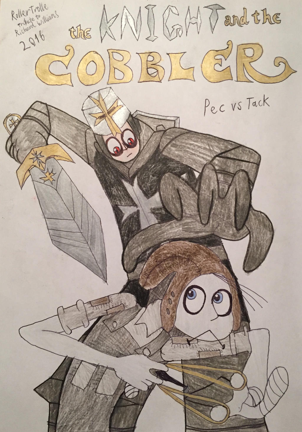 Tribute: The Knight and the Cobbler (Pec vs Tack) by ... Tack The Cobbler Costume
