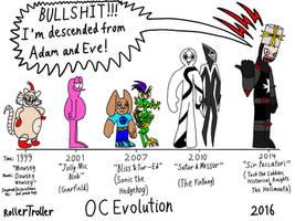 OC Evolution: Ancestors of Sir Peccatori by Mustache-Twirler
