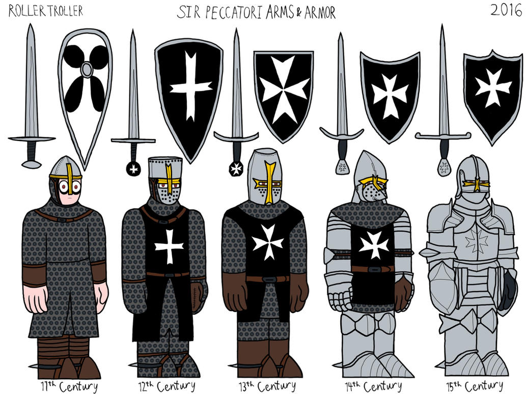 Sir Peccatori Arms and Armor Evolution by RollerTroller699 on ...