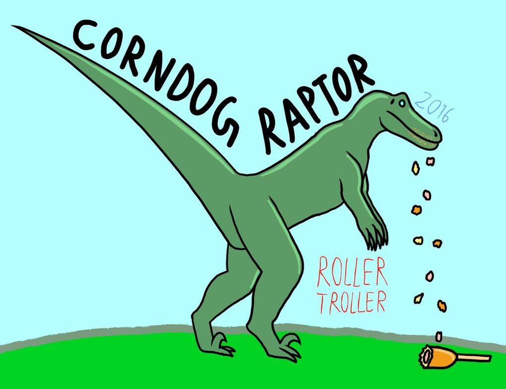 Corndog Raptor (Animation Poster) by RollerTroller699