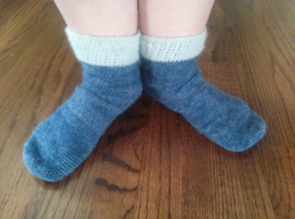 My fuzzy blue alpaca socks by Shankler