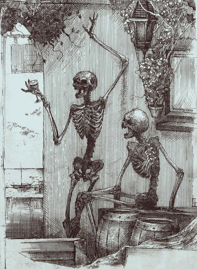 drunk skeletons by AC44