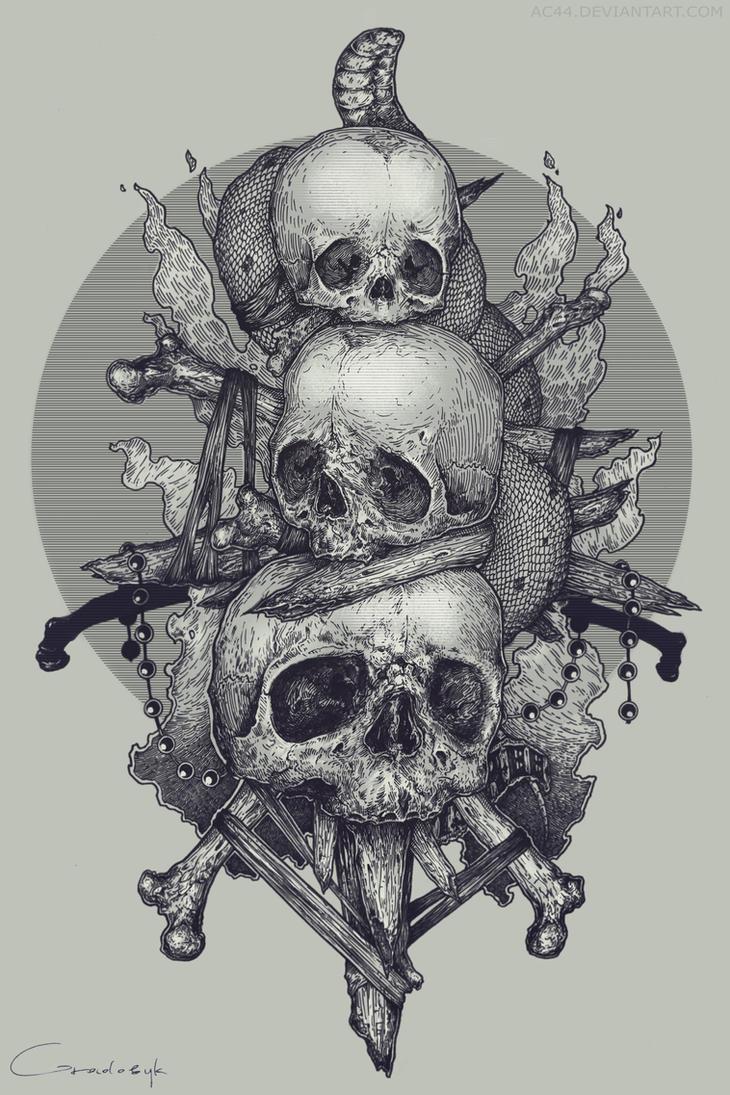 skulls by ac44 on deviantart. Black Bedroom Furniture Sets. Home Design Ideas